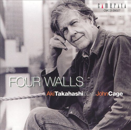 Album cover portraying John Cage for Aki Takahashi.