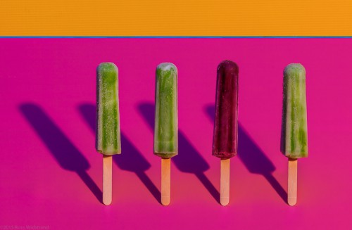 Frozen treats in the style of Wayne Thiebaud